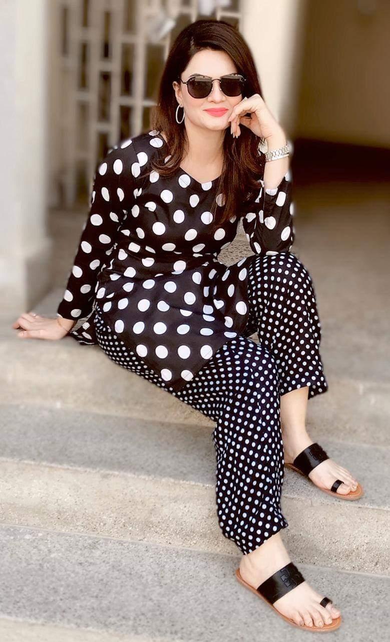 Black Polka Dot Dress – Faash Wear
